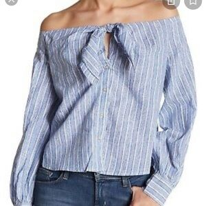 Free people over the shoulder shirt
